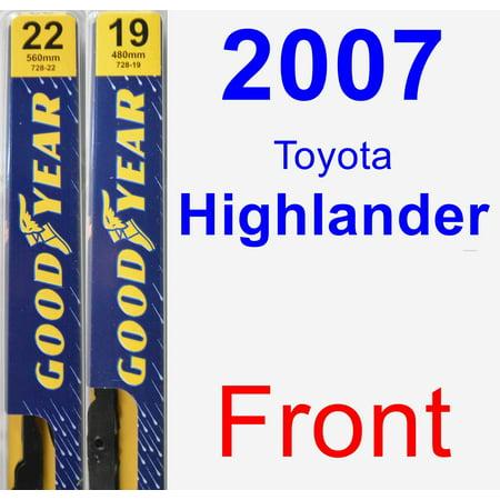2007 Toyota Highlander Wiper Blade Set/Kit (Front) (2 Blades) -