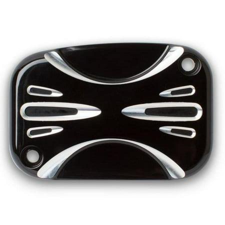 Arlen Ness 03-438 Clutch Master Cylinder Cover - Deep Cut - Black Black Deep Cut Brake