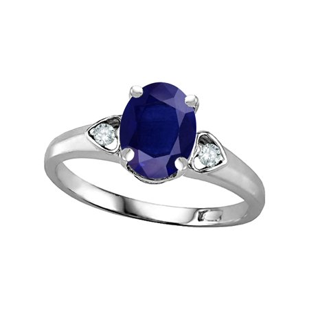 8x6 Oval Ring - Star K Oval 8x6 Genuine Sapphire Love Promise Ring