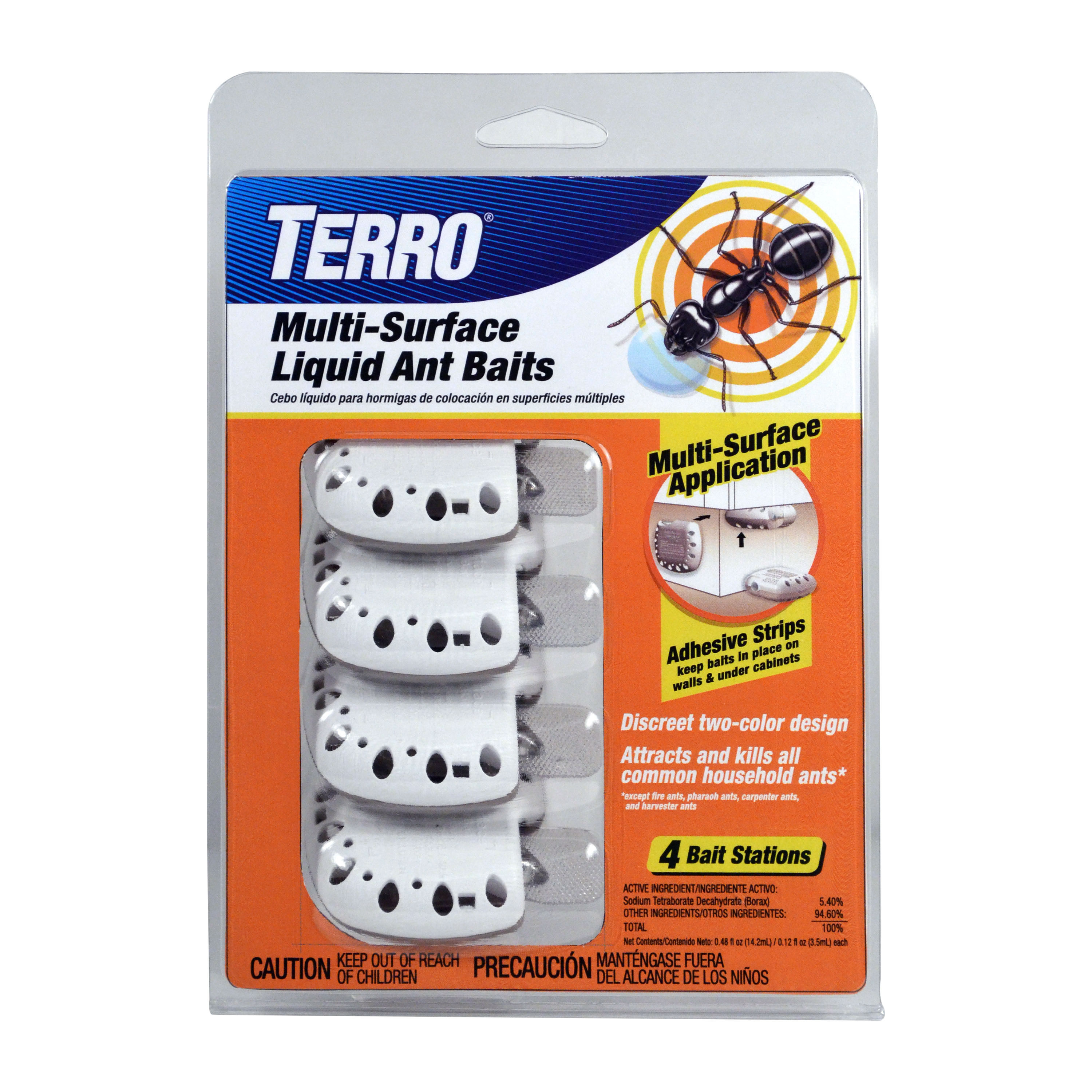 TERRO Multi-Surface Liquid Ant Baits – 4 Discreet Bait Stations