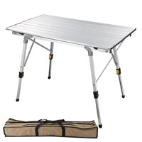 Yescom Portable Folding Aluminum Camping Table Roll Up Adjustable Leg Outdoor BBQ Home