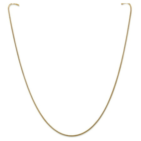 Roy Rose Jewelry 14K Yellow Gold 1.6mm Round Snake Chain Necklace ~ Length 16'' inches