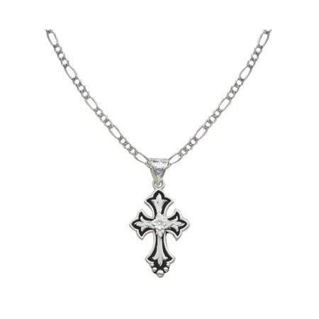 Necklace Womens Flower Cross Fleury NC1218 ()