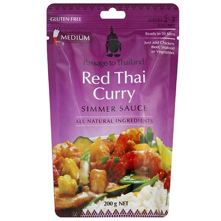Passage To Thailand Red Thai Curry Simmer Sauce, 7 oz, (Pack of - Curry Simmer Sauce