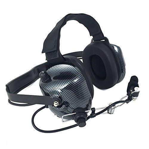 H41 Carbon Fiber 2-Way Radio Headset (Requires 2-Way Radio) by Rugged Radios