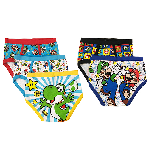 Mario Bros. Boys Underwear, 5 Pack