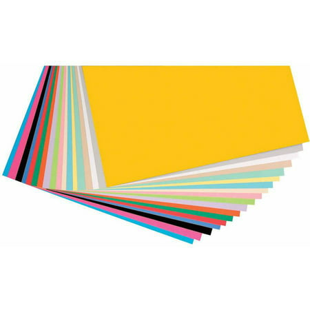Pacon Heavy Weight 65 Pounds Card Stock  12  X 12   Assorted Colors  Pack Of 160