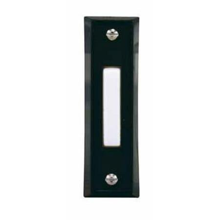 - Heath Zenith 667-1 Wire Pushbutton, 23 Volt, Black