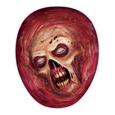 Under the Lid Toilet Seat Zombie Head Peel 'N Place Halloween - Halloween Toilet Decorations