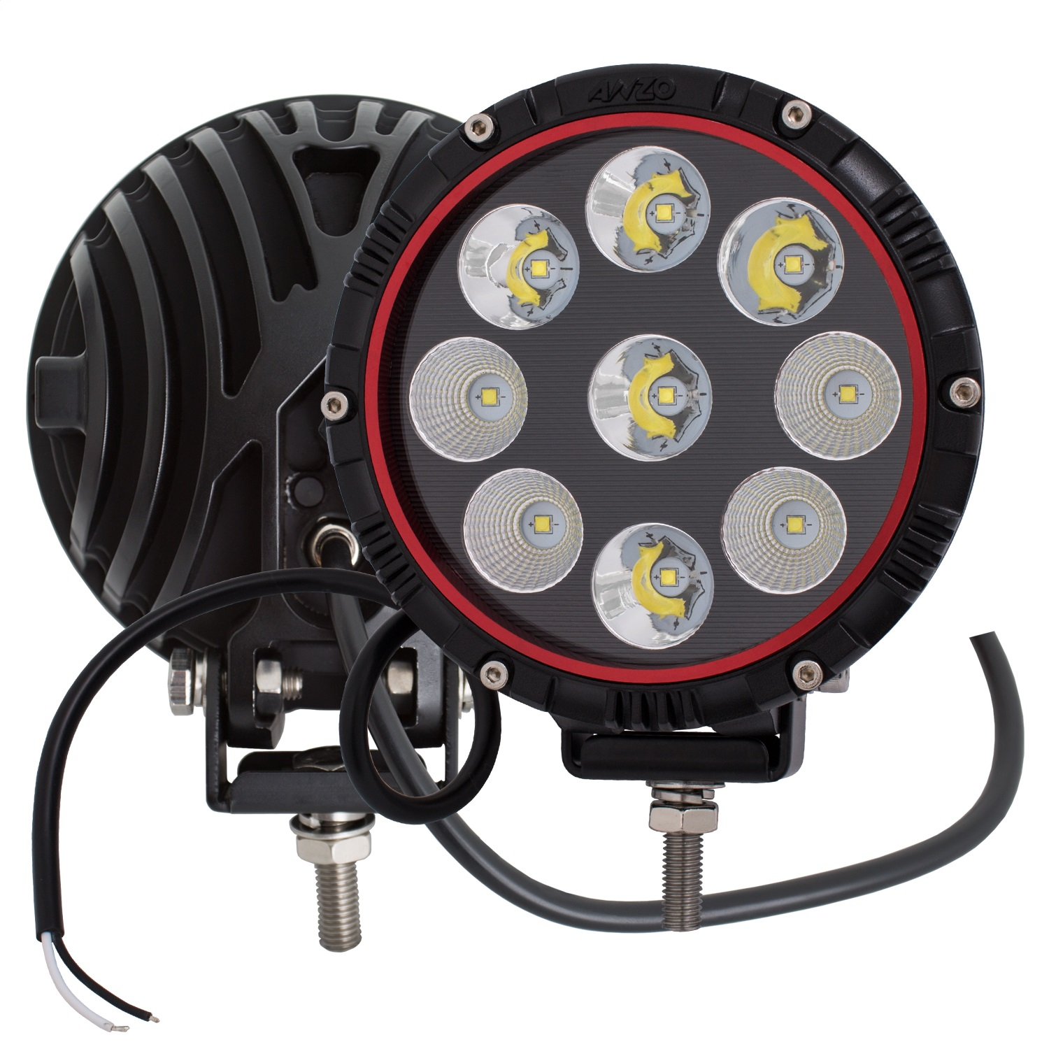 Anzo 861181 LED Offroad Light; 6 in.; Round; Clear Lens; ...