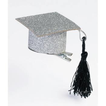 GLITTER GRAD HAT W/CLIP-2PK 12 PACK](Glitter Hat)