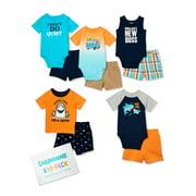 Garanimals Baby Boy Summer Shark Kid-Pack, 10-Piece