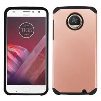 LG Stylo 4 Case, LG Stylo 4 Plus Case, Circlemalls Dual Layer Protective Hybrid Armor Defender Case With [Premium Screen Protector] (Rose Gold)