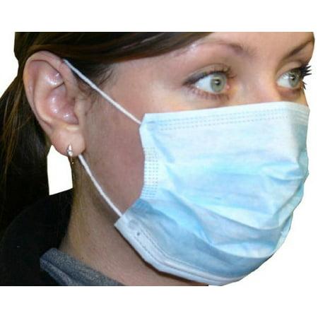 Disposable Earloop Face Masks Blue case of 300