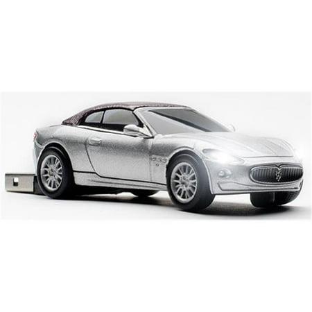 4 Gb Enterprise Usb - Maserati Grancabrio Silver Touring 4 GB USB 2.0 Stick