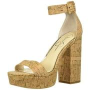 Jessica Simpson Caiya Natural Heeled Open Toe Cork Platform Sandals (11)