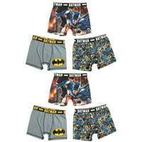 Batman, Boys Underwear, 6 Pack Boxer Brief Sizes 4 - 8