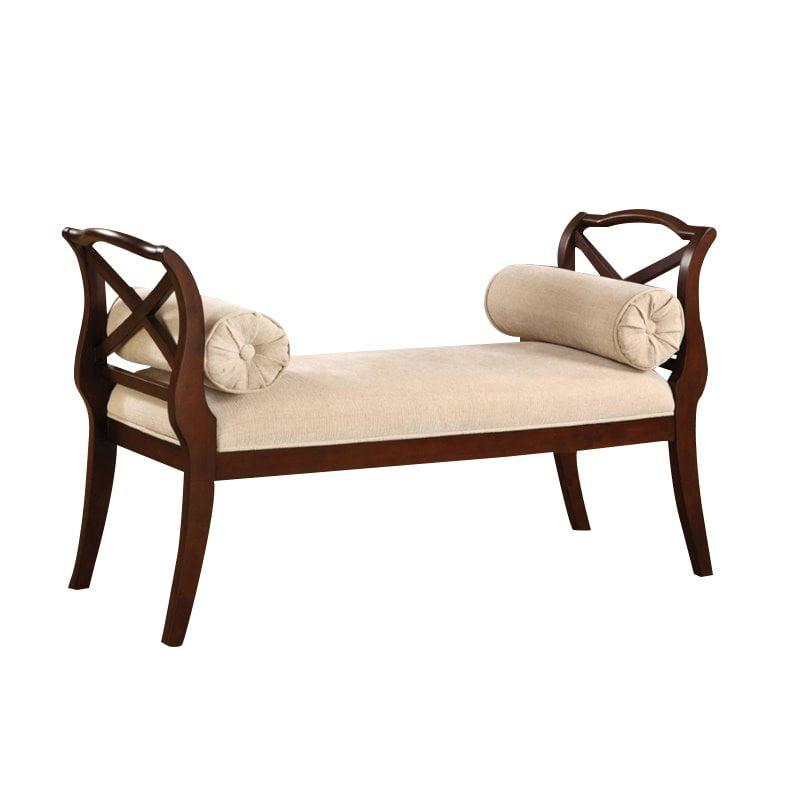 Furniture of America Kerri Scrolled Arm Bedroom Bench in ...