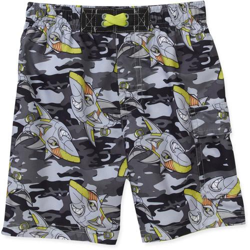 OP Baby Boys' Shark Camo Swim Trunks