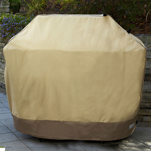 "Sure Fit 80"" Mega Two-Tone Grill Cover, Taupe/Olive"