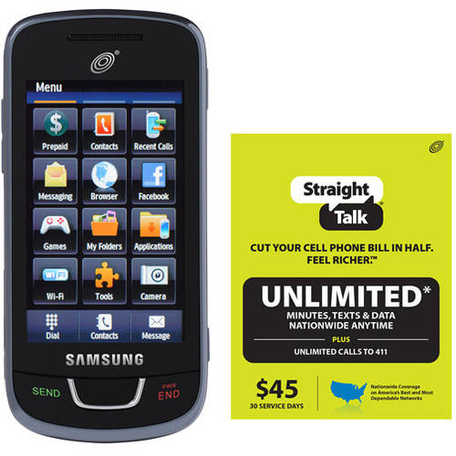 Straight Talk Samsung T528G Refurbished Prepaid Cell Phone w/Bonus $45 Unlimited Plan
