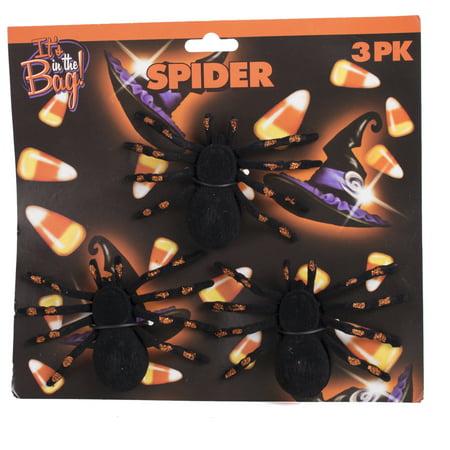 Halloween Sparkly Spider Decor 4.5