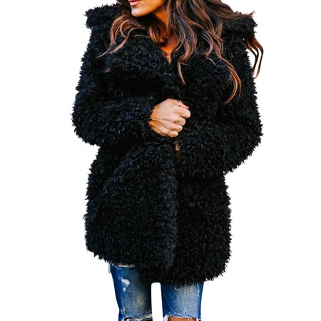 Racing Replica Leather Jacket - LMart Women Winter Leather and Fur Wool-Like Loose Warm Coat( no leather)