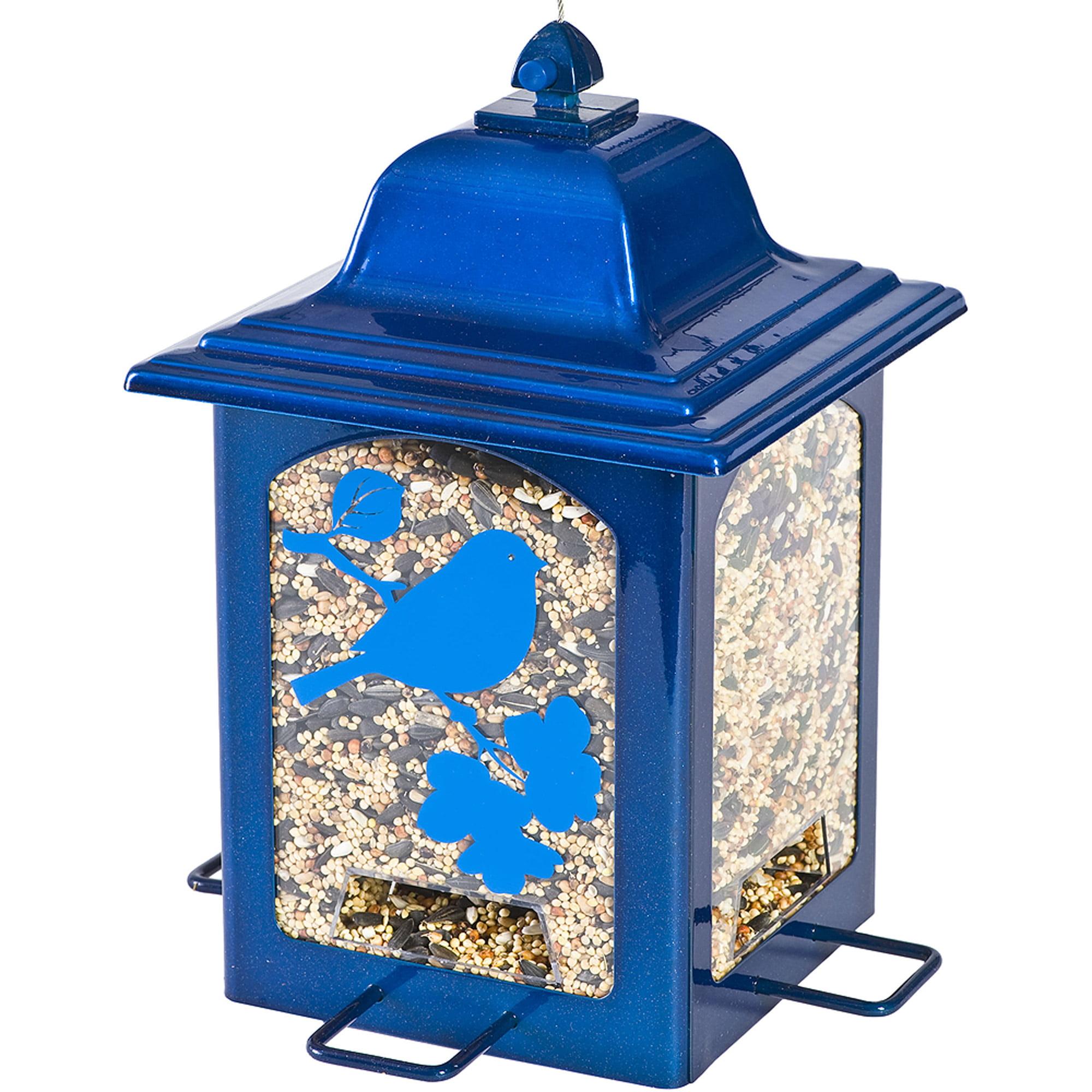 Perky-Pet Blue Sparkle Lantern Wild Birdfeeder by Perky-Pet