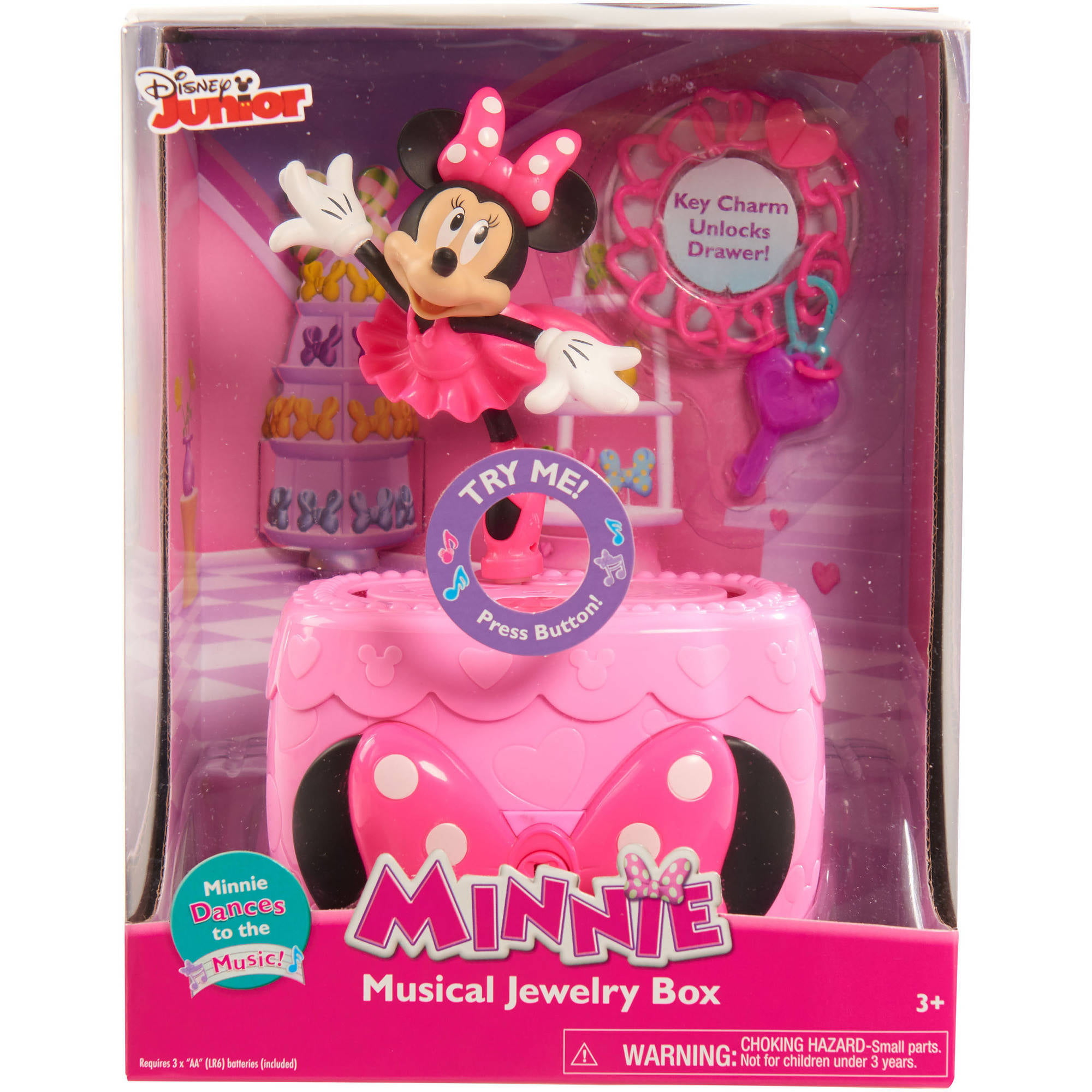 Disney Minnie BowTique Musical Jewelry Box Walmartcom