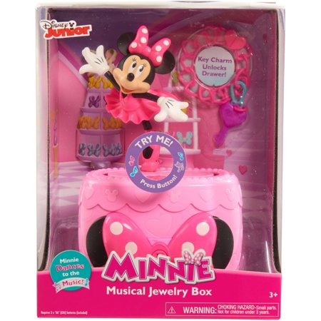 Disney minnie bow tique musical jewelry box for Minnie mouse jewelry box