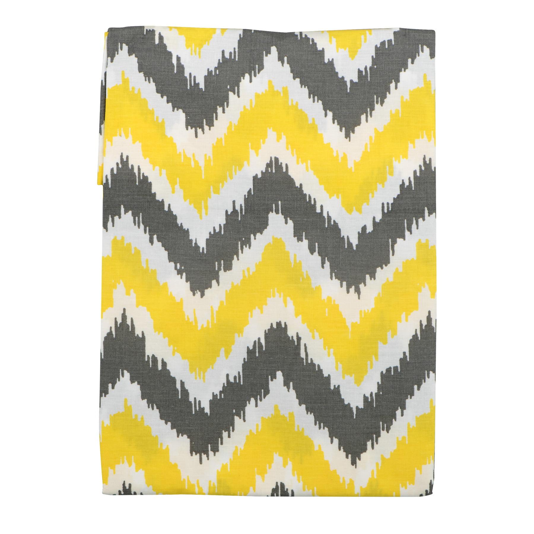 Bacati Curtain Panel Yellow/Grey Zigzag Mix N Match, 1.0 CT