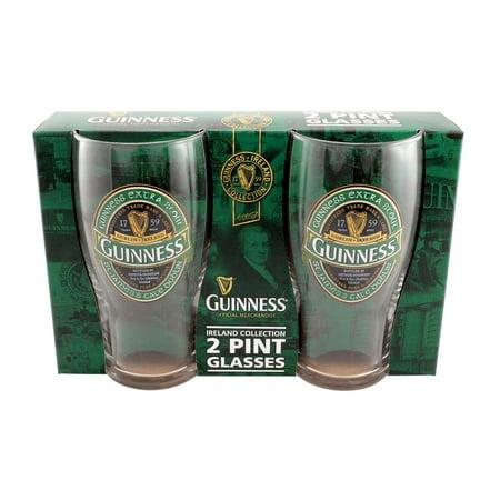 Guinness Beer Glasses - Guinness Ireland 2 Pack Pint Glass