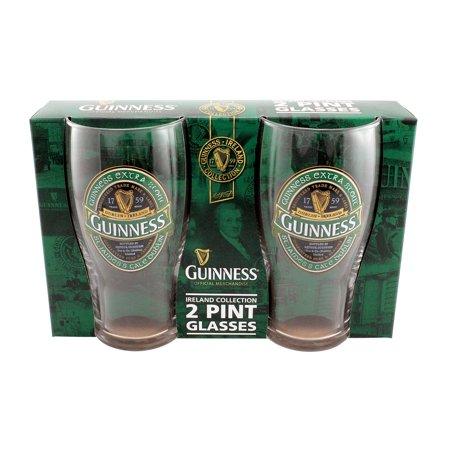 Guinness Tulip Pint Glass (Guinness Ireland 2 Pack Pint)
