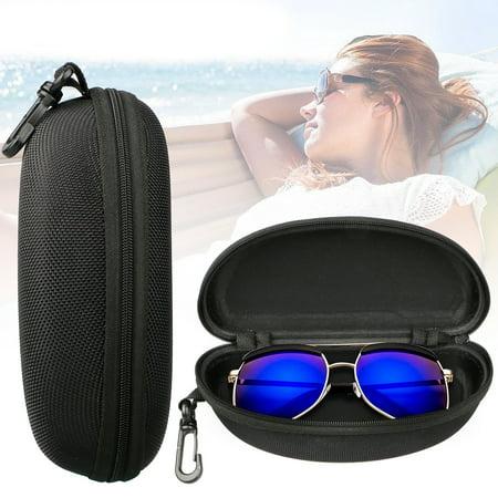 TSV Zipper Eye Glasses Sunglasses Hard Case Storage Box Holder Portable (Cause Sunglasses)