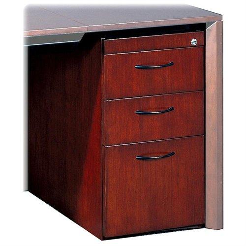 "Mayline Corsica Box/box/file Pedestal For Credenza - 15"" Width X 18"" Depth X 27"" Height - 3 X Box, File Drawer[s] - Beveled Edge - Wood - Mahogany, Walnut Veneer (CBBFDMAH)"