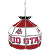 "Trademark Global The Ohio State 16"" Stained Glass Tiffany Lamp Light Fixture"