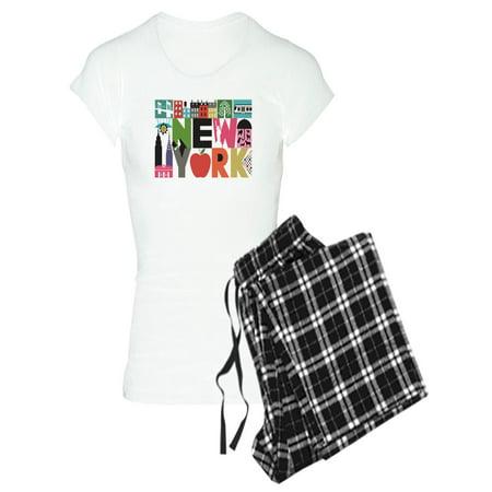Unique Pajamas For Women (CafePress - Unique New York - Block By Block Pajamas - Women's Light)