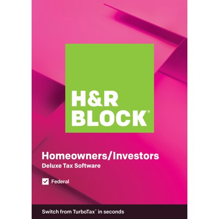 H&R Block Tax Software Deluxe 2019