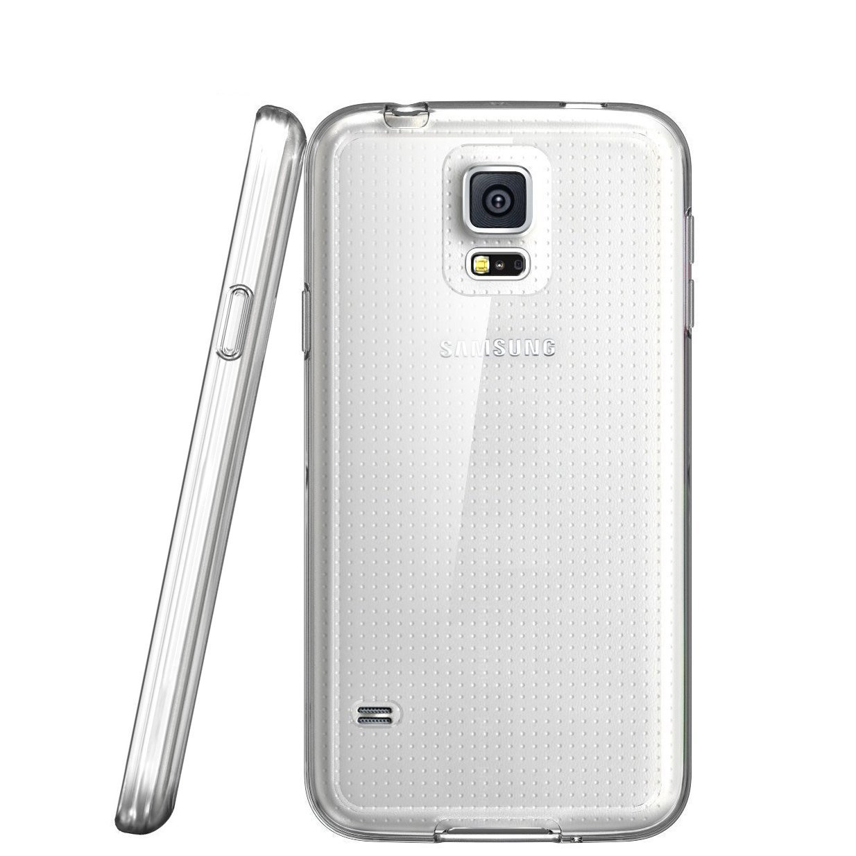 i-Blason Samsung Galaxy S5 Case - Scratch Resistant Hybrid Clear Case / Cover with TPU Bumper-Clear