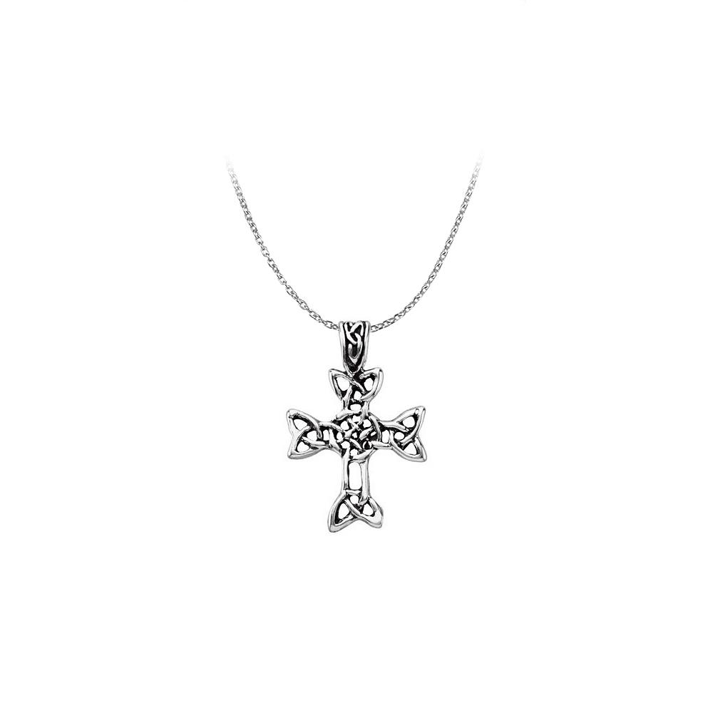 Religious Celtic Cross Pendant in 925 Sterling Silver - image 2 de 2