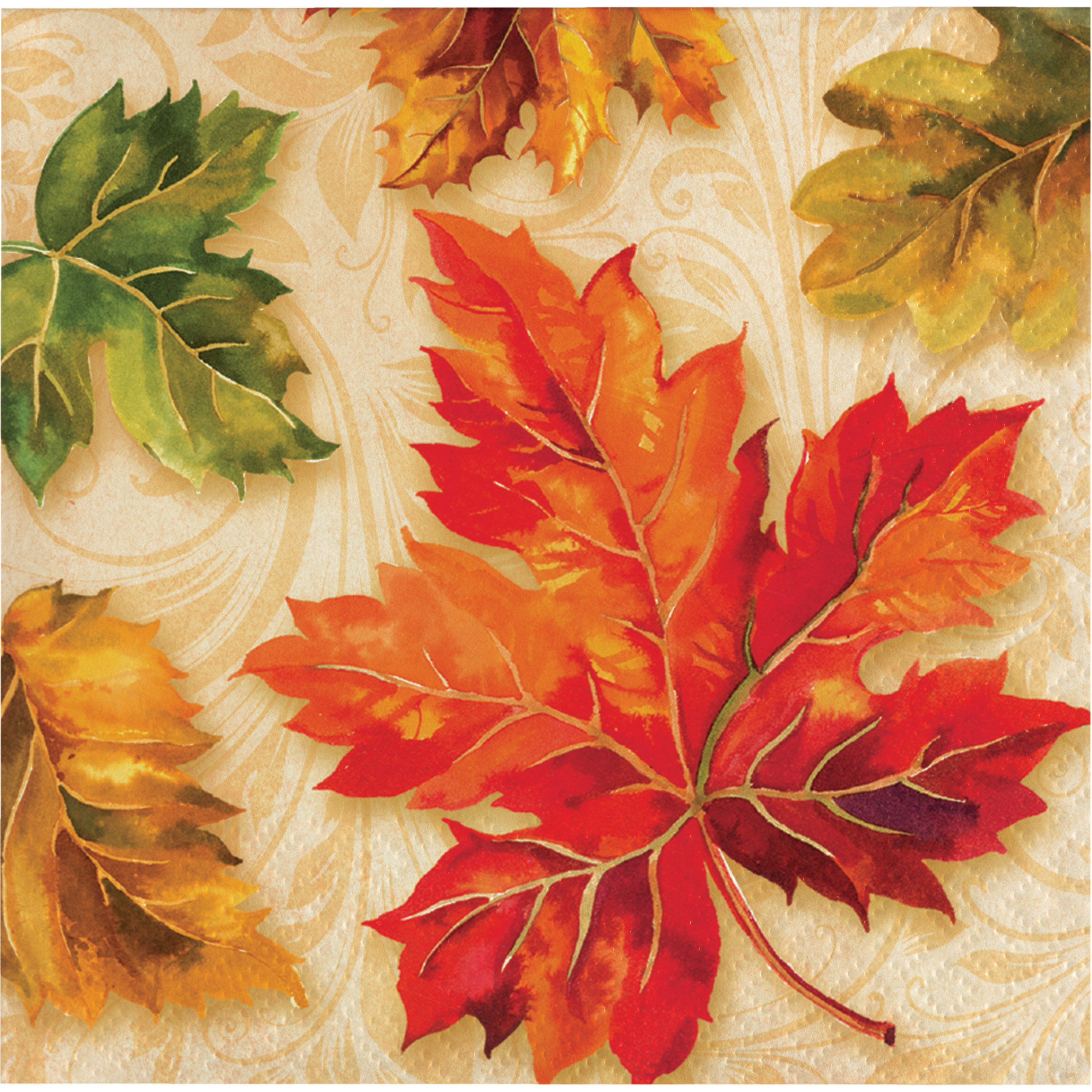 Fall Flourish Beverage Napkins, 16 pack