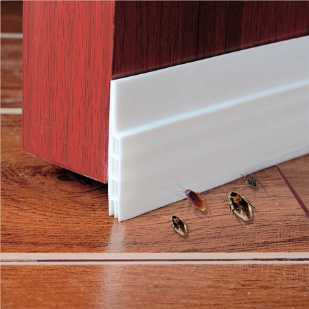 "Self-adhesive Weather Stripping Door Bottom Seal Strip, 2"" W x 39"" L (White)"