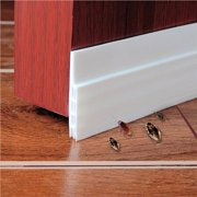"Self-adhesive Weather Stripping Door Bottom Seal Strip, 2"" W x 39"" L (White)"