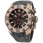 10616Sm-Rg-01-Bb Lionpulse Chronograph Black Silicone And Dial Rose-Tone Ss Watch