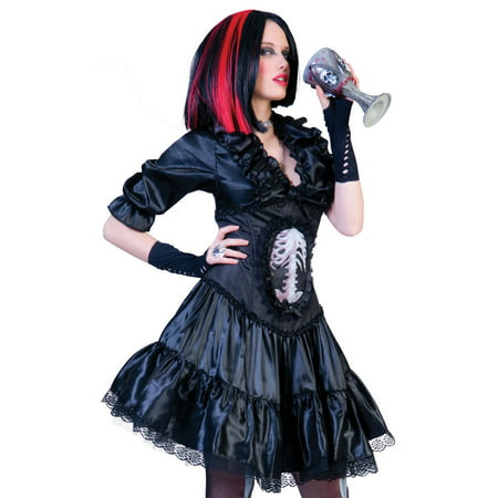 Funny Fashion Sexy Womens Goth Punk Vampire Halloween Costume