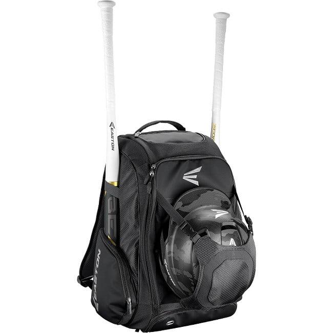 "Easton Walk-Off IV Carrying Case (Backpack) for Bat, Helmet, Cleat, Shoes, Ball - Black - Felt Pocket, Ripstop Polyester, 600D Polyester - Shoulder Strap - 20"" Height x 9.5"" Width x 14"" Depth"