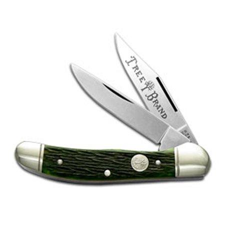 Boker Tree Brand Jigged Green Bone Copperhead Pocket Knife Knives