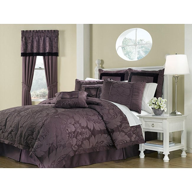 Royal Heritage Home Lorenzo Purple 8-piece King-size Comforter Set