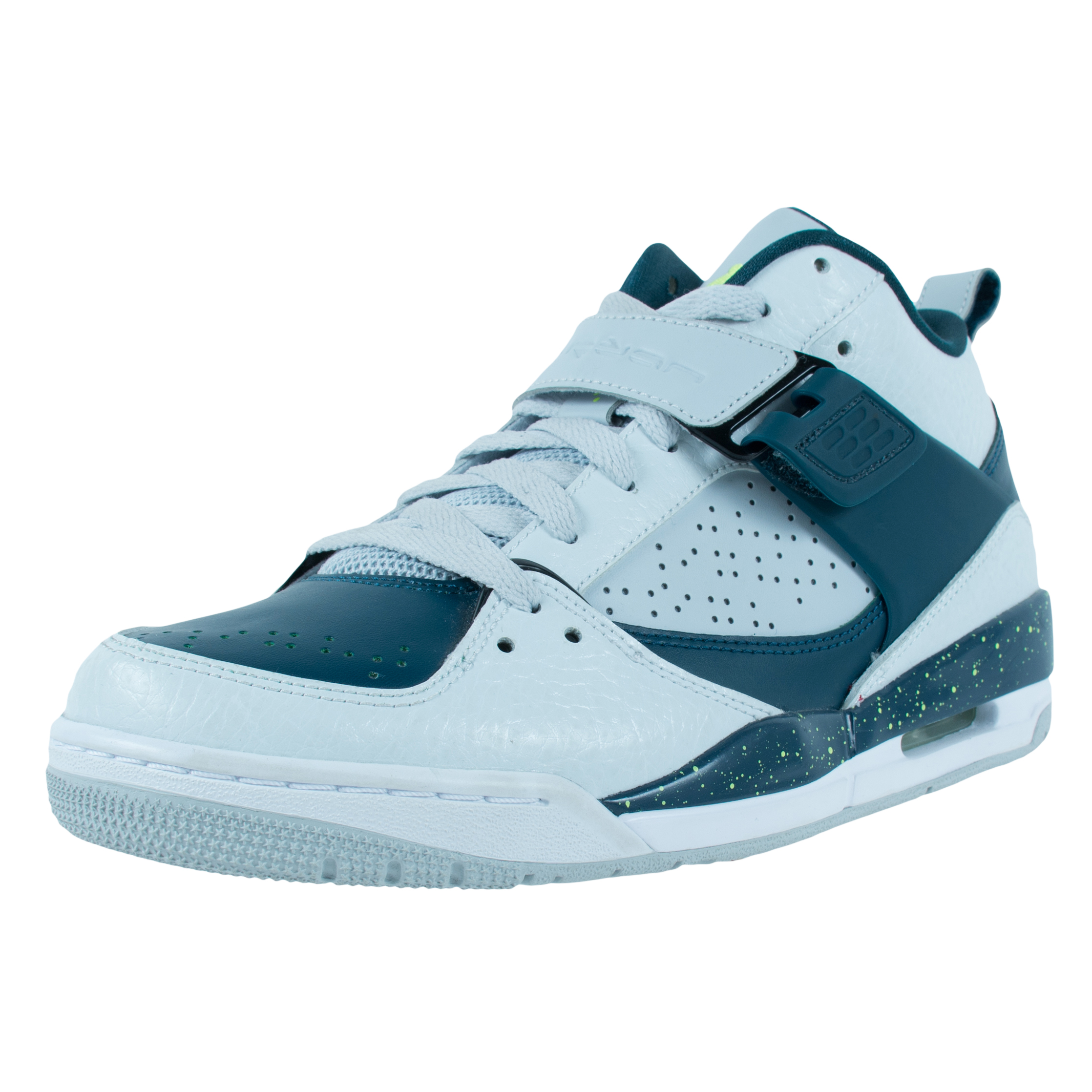 Nike JORDAN FLIGHT 45 BASKETBALL SHOES PURE PLATINUM VOLT...