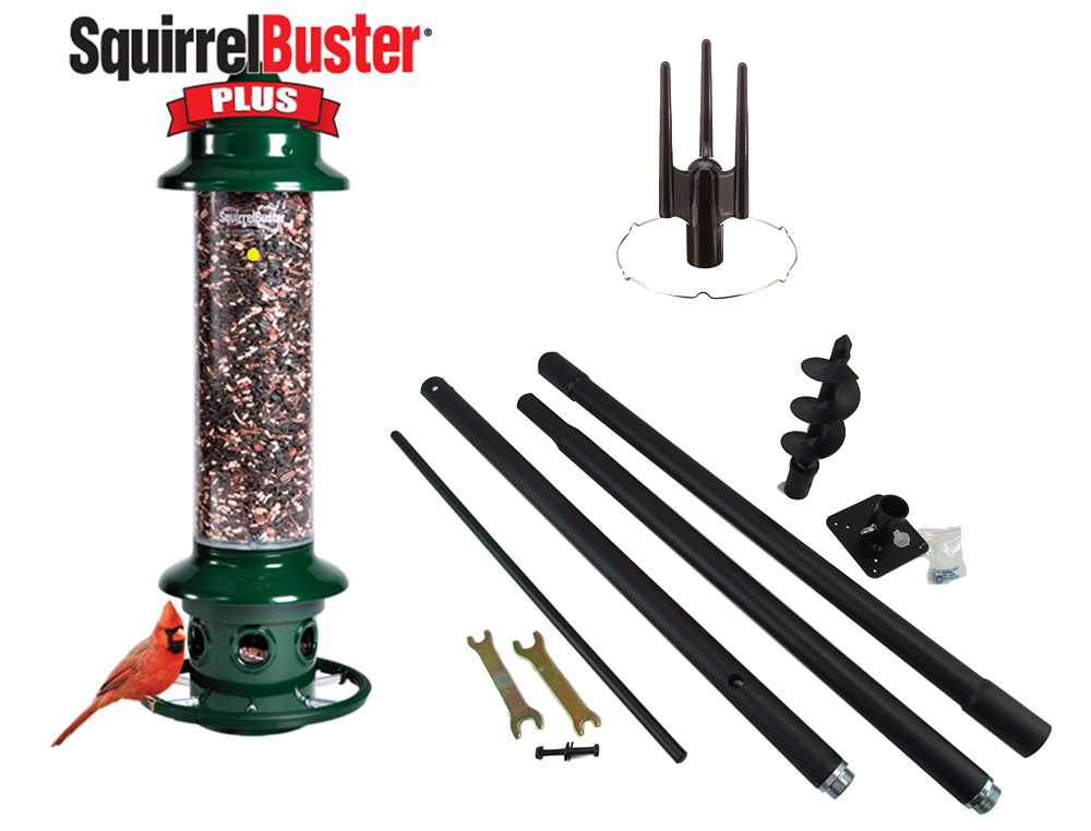 Complete! Brome Squirrel Buster Plus Birdfeeder and Accessory Kit by JCs Wildlife